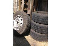 4 wheels ant tyres for citreon relay,boxer,ducato