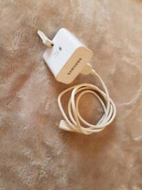 Samsung charger and Samsung headphones . Original
