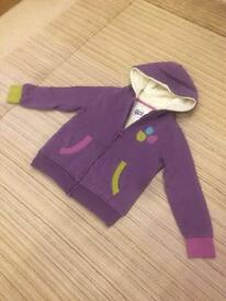 kite girls jacket 100% cotton age 5-6 ex cond fleece lined gorgeous rrp£45