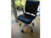 Leather office chair by Verco with active seating tilting