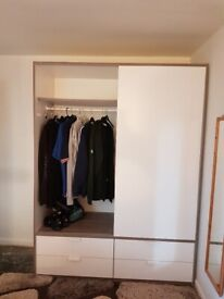 Huge double Solid wood wardrobe and drawers