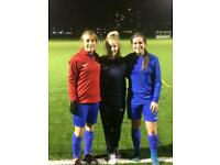LADIES FOOTBALL. LONDON. AMBITIOUS PLAYERS WANTED FOR FIRST TEAM FOOTBALL. PREMIER DIVISION