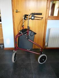 Nearly New Rollator with attached Bag for Sale