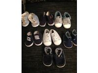 Baby boys bundle of 7 crib shoes