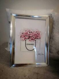 Chanel inspired framed pictures