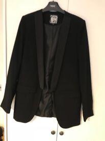 Black ladies tuxedo style jacket