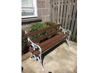 Restored cast iron garden bench free local delivery