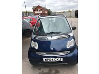04 SMART CITY PULSE 61 CABRIOLET 698CC PETROL SEMI AUTOMATIC GEARS CONVERTABLE MOTD CHEAP CAR TO RUN