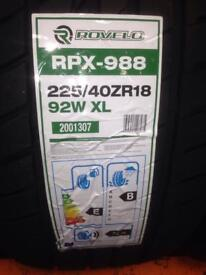 4x ROVELO RPX-988 225/40ZR18 92W XL BRAND NEW £60 EACH