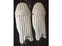 Addidas cricket batting pads L/H (youths/men's)