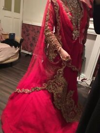 Asian bridal dress
