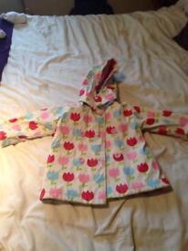 Girls waterproof jacket 1-2yrs