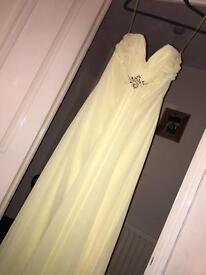 Floaty lemon bridesmaid/prom dress for sale