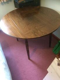 Dark mahogany dining table.