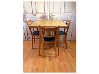 Vintage retro dining table with 3 vintage retro chairs