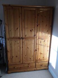 Wardrobe, Triple Door - Pine