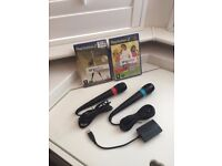 Singstar Sony PSP Microphones Set + 2 CD Karaoke + USB Converter
