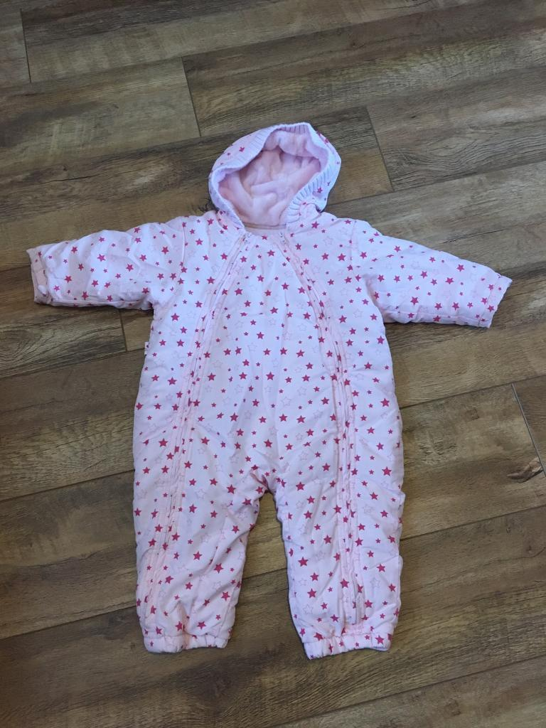 8595b5c39daa0 M S girl s all in one winter suit 12-18 months