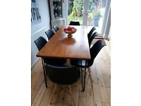 8no. Eames style padded seat dining chairs, great condition
