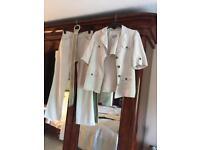 Pure Linen Safari trouser suit with belt - Per Una, size 12