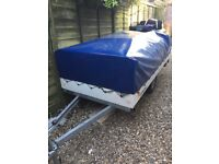 2006 Conway Carnival 600 Trailer Tent. V G C. Two zip on awnings, cooker & sink. Curtains & flooring