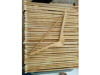 Wooden hangers as new condition 100 available