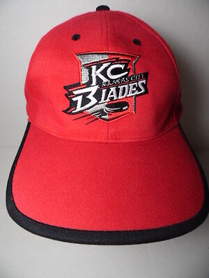 1990 2000 Kansas City Blades Ihl Hockey Oreo Hyvee Advertising Snapback Hat Cap