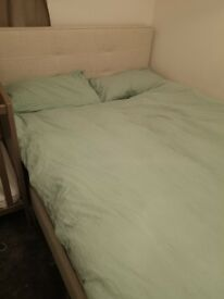Double bed - mattress and frame/headboard incl