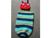Hungry caterpillar knitted baby