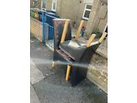 FREE Dining chairs x 4 Leather type material