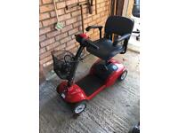 Invacare Taurus Folding Electric Mobility Scooter Red with Charger