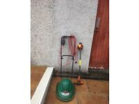 Qualcast Eastlite Lawnmower and Flymo Trimmer