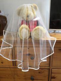 Two tier bridal veil with satin edge - unworn