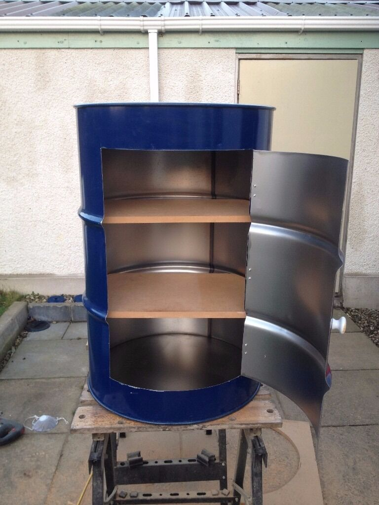 Upcycled 200 Ltr Steel Oil Barrel Drums converted into Solid ...