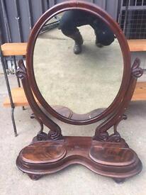 Large vintage dressing table mirror SOLD