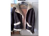 Men's Genuine Leather Sheepskin Flying Jacket
