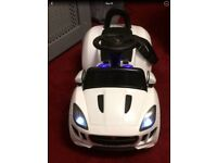 Collection only. Toy white child's Jaguar Electric Car.