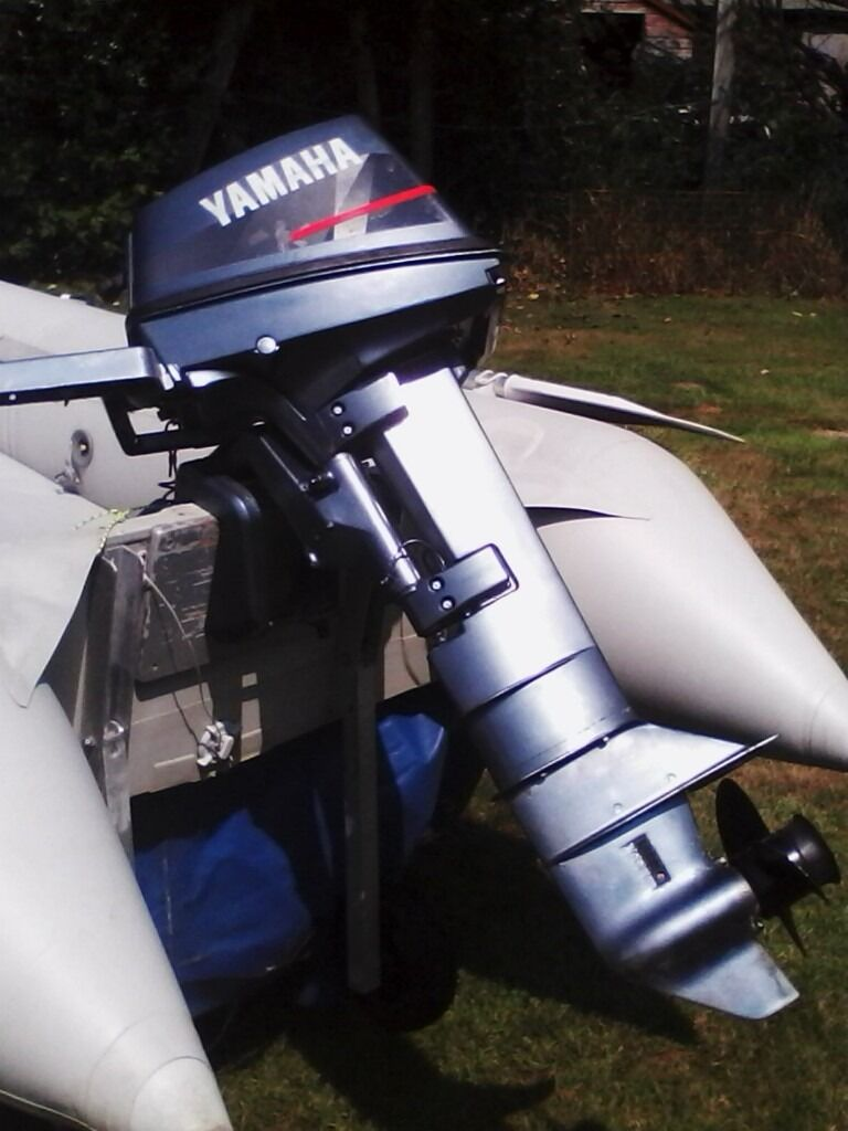 YAMAHA 6HP BOAT OUTBOARD LONG SHAFT WITH TANK