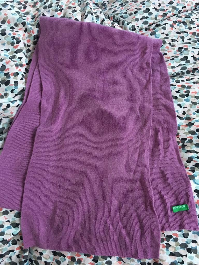 Benetton scarf - warm and cosy