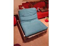 Argos single futon with teal mattress