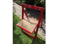 1970/80's folding chair with cane seat