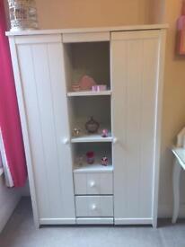 Triple wardrobe white wood from NEXT