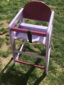 Child's/girls high chair