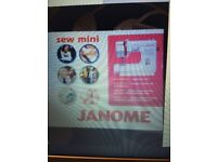 Janome mini sewing machine