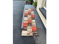 3 coloured rug