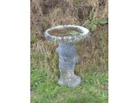 Vintage Tall Tree Trunk Design Bird Bath 52cm Tall / Bird Table
