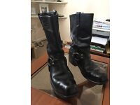 Genuine American classic motorcycle boots size 9