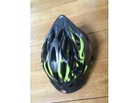 Child Bike Helmet by Bell Green and Black Design 'Alibi' Model Youth for 50-57cm Excellent Condition