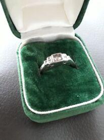 Certified 7 DIAMOND PLATINUM ENGAGEMENT RING