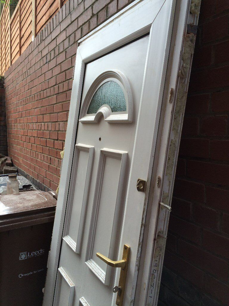 White upvc door in armley west yorkshire gumtree for Upvc french doors yorkshire